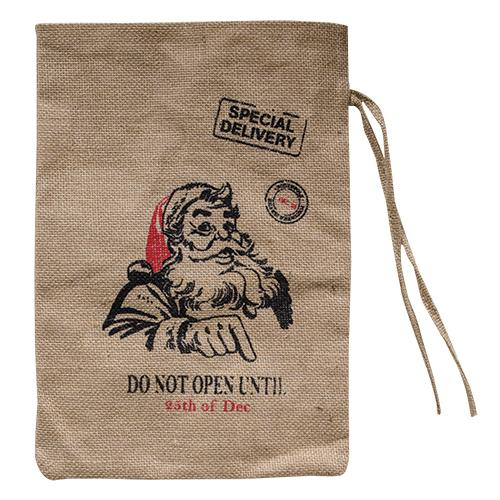 Vintage Santa Burlap Gift Sack - Thompsons Vintage Treasures