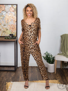 Chic Leopard Print Jumpsuit, Boutique Apparel, Thompsons Vintage Treasures Thompsons Vintage Treasures