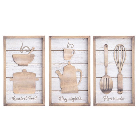 Distressed Kitchen Signs, Set/3, Wall Art, Thompsons Vintage Treasures Thompsons Vintage Treasures