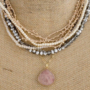 Rose Gold Layered Necklace - Thompsons Vintage Treasures