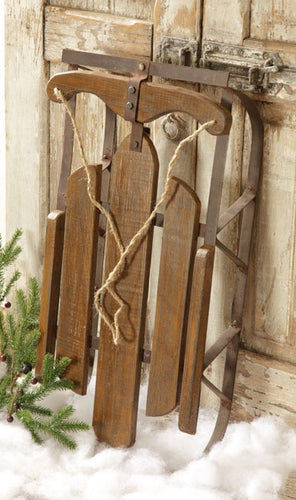 Large Distressed Wood Sled - Thompsons Vintage Treasures