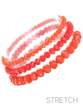 Load image into Gallery viewer, Glass Beaded Bracelet Stacks, 6 Colors - Thompsons Vintage Treasures