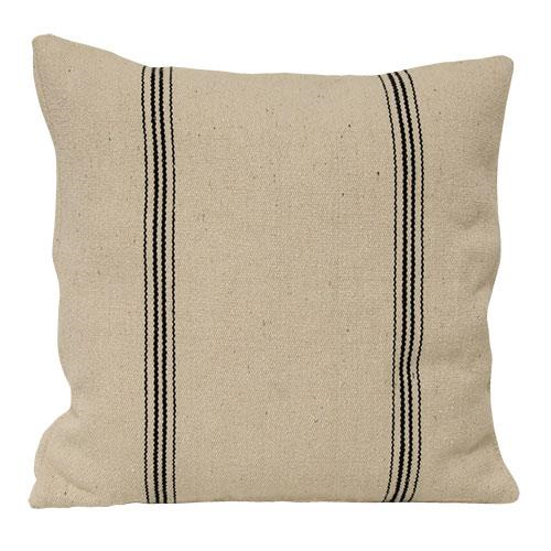 Black Striped Pillow Cover - Thompsons Vintage Treasures