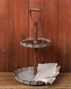 Rustic Two Tiered Trays