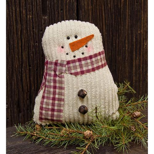 Tea-Stained Chenille Snowman - Thompsons Vintage Treasures