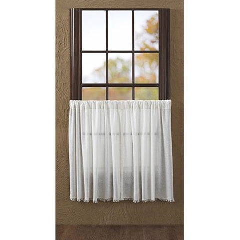 Antique White Prairie Curtain Tiers, Window Treatments, Thompsons Vintage Treasures Thompsons Vintage Treasures