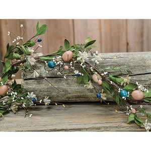 Country Easter Garland, Holiday Decor, Thompsons Vintage Treasures Thompsons Vintage Treasures