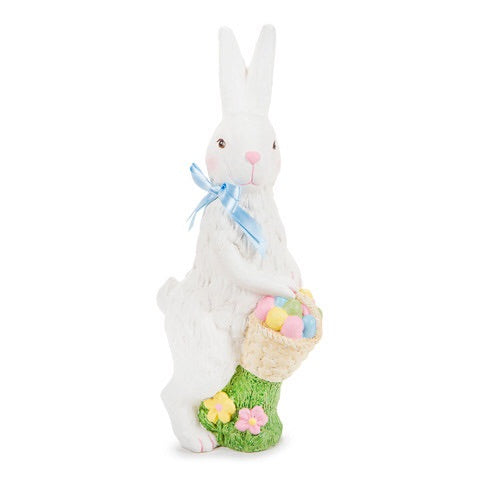 White Easter Bunny Decor