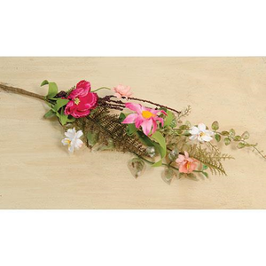 Pink Gardenia Floral Spray - Thompsons Vintage Treasures