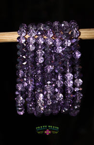 Shimmer Me Purple Beaded Bracelet - Thompsons Vintage Treasures