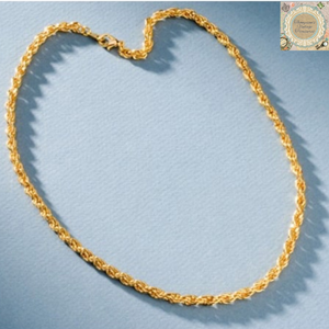 French Rope Chain, Yellow & White Gold - Thompsons Vintage Treasures