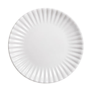 Scalloped White Picnic Plates, Set/4