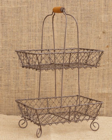 Two Tier Wire Baskets