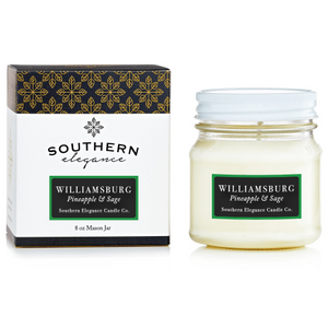 Williamsburg, Pineapple & Sage Candles
