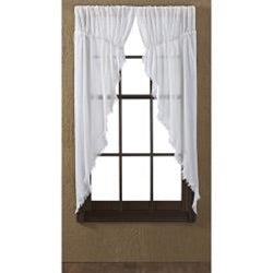 Antique White Prairie Curtains, Window Treatments, Thompsons Vintage Treasures Thompsons Vintage Treasures