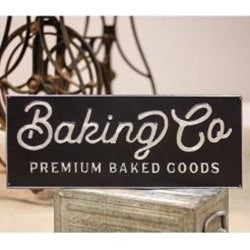 Baking Co Sign - Thompsons Vintage Treasures
