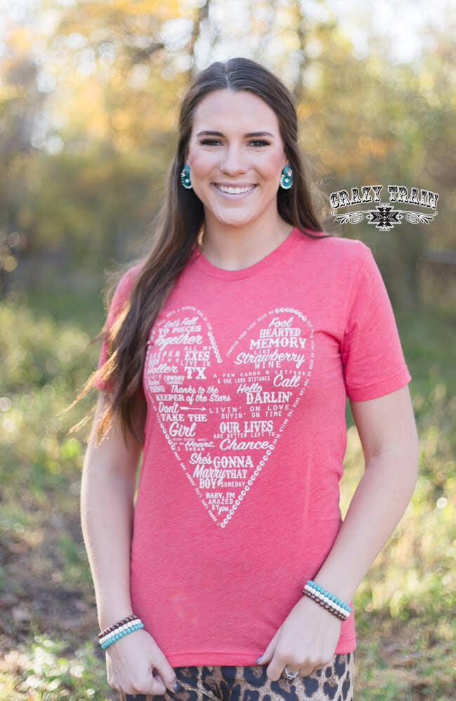 Country Love Song Tee, Boutique Apparel, Thompsons Vintage Treasures Thompsons Vintage Treasures