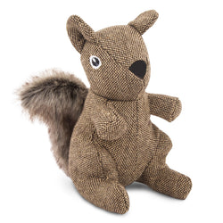 Tweed Squirrel Plush Dog Toy