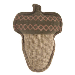 Tweed Acorn Plush Dog Toy