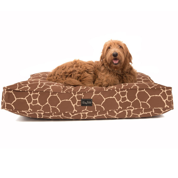 Giraffe Cotton Canvas Dog Bed