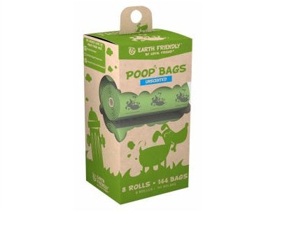 Earth Friendly Compostable Poop Bags- 72 Bags Unscented