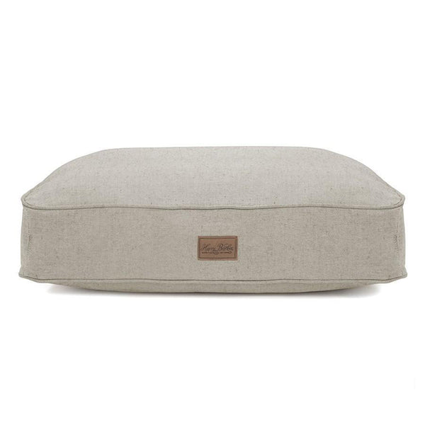 Tweed Rectangle Dog Bed - Grey