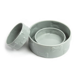 Manor Grey Pet Bowl