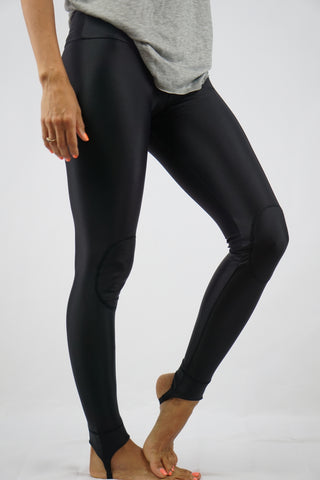 High-Rise Cushy Yoga Stirrup Pants | Black