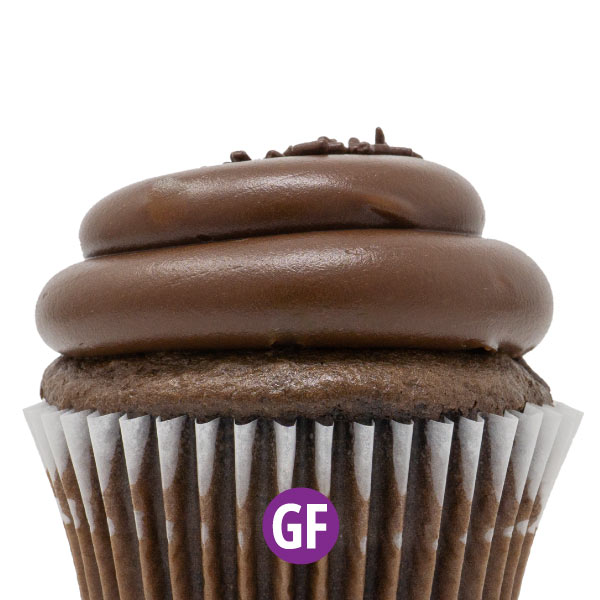 Gluten-Free - Chocolate with Chocolate Fudge Cupcake