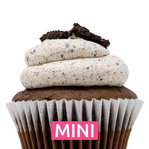 Chocolate with Oreo Mousse Mini Cupcakes - Dozen