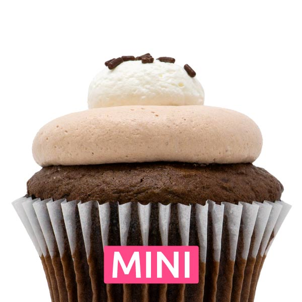 Chocolate with Nutella Mini Cupcakes - Dozen