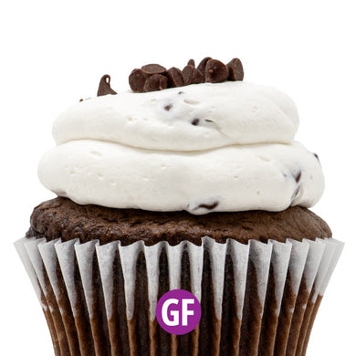 Gluten-Free - Chocolate with Chocolate Chip Mousse Cupcake