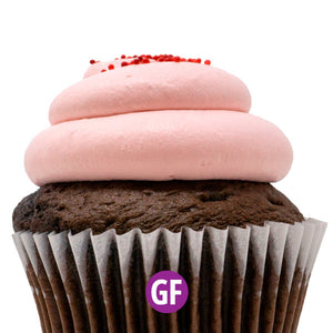 Gluten-Free - Chocolate with Strawberry Mousse Cupcake