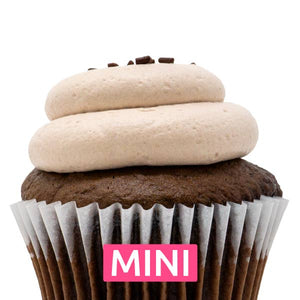 Chocolate with Chocolate Mousse Mini Cupcakes - Dozen