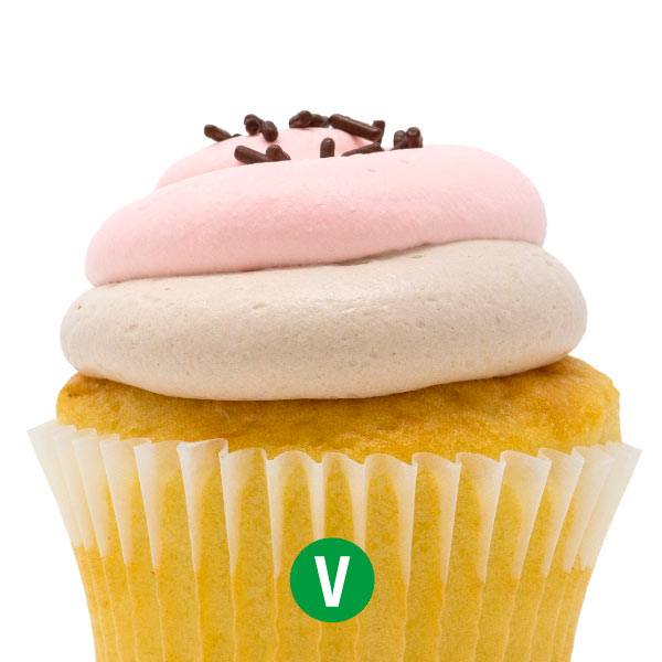 Vegan The Neapolitan  Cupcake