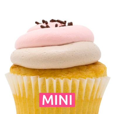 The Neapolitan Mini Cupcakes - Dozen