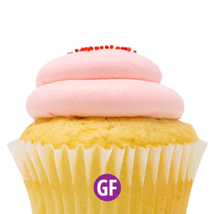 Gluten-Free - White with Strawberry Mousse Cupcake