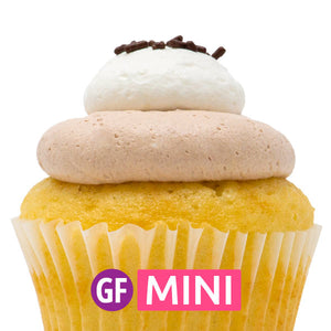 Gluten-Free - White with Nutella Mousse Mini Cupcakes - Dozen