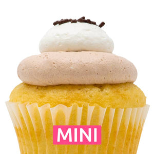 White with Nutella Mousse Mini Cupcakes - Dozen