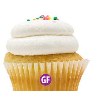 Gluten-Free - White with Vanilla Mousse Cupcake