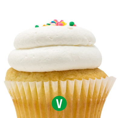 Vegan White with Vanilla Mousse Cupcake
