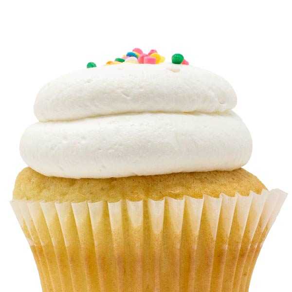 White with Vanilla Mousse Cupcake