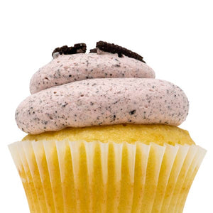 White with Strawberry Oreo Mousse Cupcake