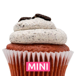 Red Velvet with Oreo Mousse Mini Cupcakes - Dozen