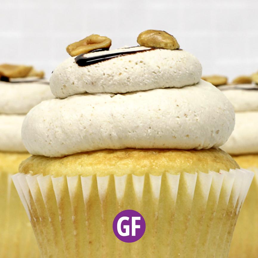 Gluten-Free - White with Peanut Butter Mousse Cupcake