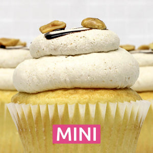 White with Peanut Butter Mousse - Mini Cupcakes - Dozen