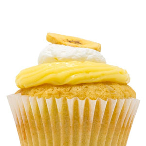 Banana with Vanilla Cream Cupcake