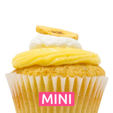 Banana with Vanilla Cream Mini Cupcakes - Dozen
