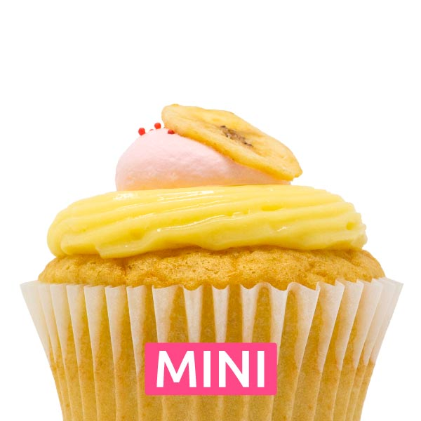 Banana Strawberry Mini Cupcakes - Dozen