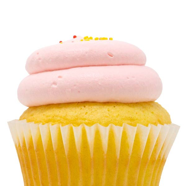 Lemon Strawberry Cupcake